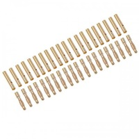 2.0mm Gold Plated Banana/Bullet Connectors with Heat Shrink Tubing (20 pairs)  10099