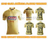 2015 Club America home YELLOW Raul Sambueza M.LAYUN MICKY ss best quality player version soccer football jersey shirt