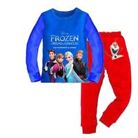 New Arrival 1set=2pcs 100% cotton 8-12 years old kids boys pajamas long sleeve Fall Winter pajamas sleepwear  2014-8-12  F086
