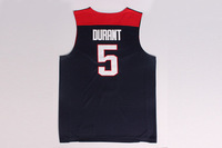 FREE SHIPPING! #5 Durant  2014 USA Basketball Jersey