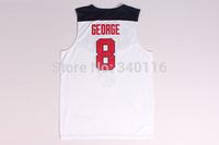 FREE SHIPPING! #8 George  2014 USA Basketball Jersey