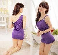 Women's fashion Sexy lingerie sexy sleepwear shoulder evening dress uniforms 4 Color FZ407