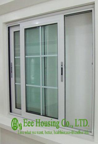 Aluminum glass sliding window for Villa projects,aluminum profile sliding windows with grilled design,horizontal sliding windows(China (Mainland))