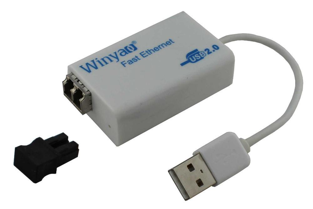 Wan Yiu USB100FX USB2.0 Fast fiber optic transceivers external NIC LC fiber to the desktop(China (Mainland))