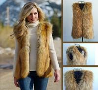 New 2014 Fall Fashion For Women Best-selling Colete De Pele Elaborate Waistcoat Raccoon Coat Of Fur Vests For Women E 84