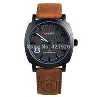 New Arrivals 3ATM Waterproof Quartz Business men wristwatches Men's Military Watches,Men's Leather Strap Sports Watches