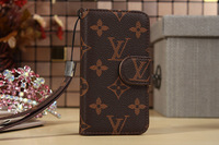For iPhone Case Luxury Real Genuine Leather Cell Phone Case Cover For iPhone 5 5s 4s 4 +free shipping
