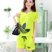 New 2014 Summer Women Short Sleeve Fashion Sweatshirt Sports set Sportswear sport suit women hoodies Set 4 colors