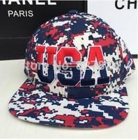 2014 new fashion hat series Camouflage American flag printed USA adjustable snapback hip-hop baseball caps 14275