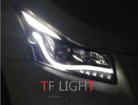90cm Dual color flexbile universal led drl flexible drl LED daytime running light auto headlight strip white yellow best quality