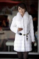 2014 faux stripe outerwear women's medium-long o-neck long-sleeve wool top overcoat