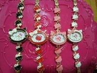 hot sales 5pcs/lot  fashion Kello kitty watches butterfly Bracelet wristWatches Time Quartz L61 FOR Women Lady's girls hot gift