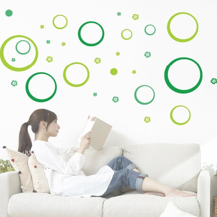 2015 Hot Living room bedroom wallpaper Wall Decoration Removable wall stickers Polka circle Circle Wall Stickers Free shipping(China (Mainland))