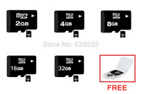 Free shipping 8GB 16GB 32GB 64GB micro sd card TF Memory card class 10 +Free card reader For Cell phone mp3 micro sd C10
