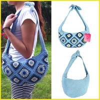 Xhilaration Brand Hand Crochet Bags For Women Cotton Weave Shoulder Bag Fashion Knitting Handbags Free Shipping
