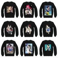 Tattoo Girl Princess Sweatshirt For Women Men Flocking Hoodies Lady Casual Fleece Hoody Pullover Thick Warm Winter XXXL ZY053-01