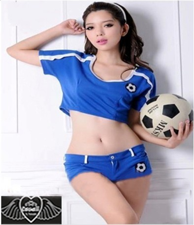 new fashion Sexy Sports Costume Cosplay Women Football Baby singer suit WL1021(China (Mainland))