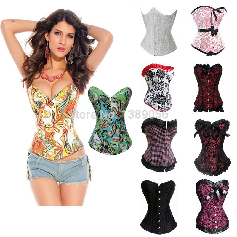 Sweet ladies outwear sexy busty corset bustier,corset womens hot sex images,hot sex women photo corset(China (Mainland))