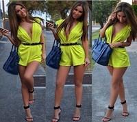 Free shipping kim kardashian New hot 2014   summer  es jumpsuit  evening    sexy bandage