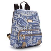 printing backpack graffiti canvas bags to school women bookbags laptop notebook kanken