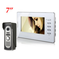 7 inch LCD Color Video door phone Intercom System Weatherproof Night Vision Camera Home Security