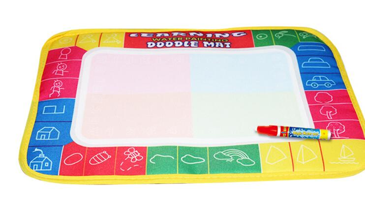 Free shipping 29X19cm 4 color Water Drawing Toys Mat Aquadoodle Mat&1 Magic Pen/Water Drawing board/baby play mat(China (Mainland))