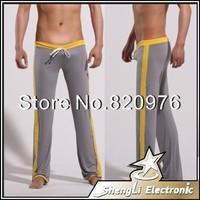 2014 Low waist Men Trousers Lounge Loose-Fitting Baggy Sport Yoga Pants Sleep Bottoms Sexy Long Underwear Sleepwear Pajamas