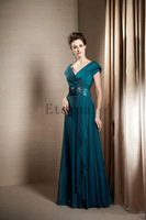 Free shipping gown Mother evening Dresses prom party dress temperament Formal Long evening Dress E1508
