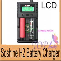1Set! Soshine H2 Intelligent Universal LCD Battery Charger For Li-ion/LiFePO4/26650/18650/16340/9V/NiMH C/AA/AAA Batteries