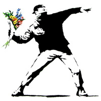 Banksy 100% Handmade Painting Art Modern Decoration Wall Art -No Frame