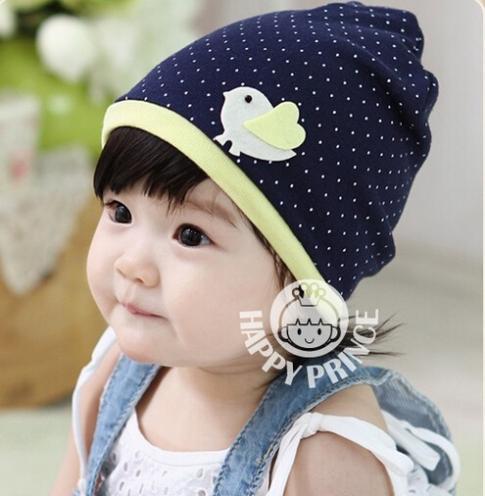 2014 Fashion Baby Kids Infant Boy Girls Head Hat Cap Cute Cartoon Autumn Spring Winter New Korean Bird(China (Mainland))