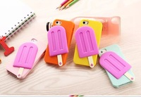 Fashion Lovely Cool Summer Kate Ice Cream Design 3D Silicone Back Case Cover For iphone5 iphone 5 5S 5G Free Shipping