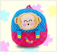 Cute monkey doll cartoon school bags for girls boys children backpack kids bookbag baby mochila infantil bolsas free shipping