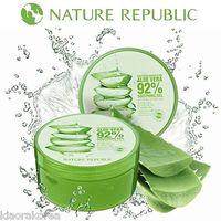 100% Original NATURE REPUBLIC Aloe Mask Soothing & Moisture Aloe Vera 92% Soothing Gel 300ml Free  shipping