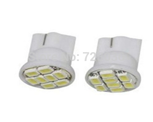 smd1206  t10 car lights led cearance light 50A signal light 8pcs small  lamp  white/green/red/yellow/blue  free shipping(China (Mainland))