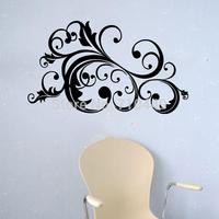 Flower vine design room decorative  wall art sticker 60x100cm home decal