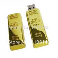 UP1 Free shipping new 2014 Metal 16GB 32GB 64GB (8GB up to) Gold bar u disk USB 2.0 Flash pen drive memory card car key
