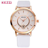 AW-SB-937 High Quality KEZZI K-878G Brand Quartz Watches Calibration Unisex Genuine Leather Strap Watches