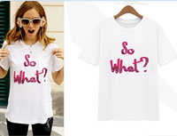 2014 new letters printed short sleeve T-shirt SK064127