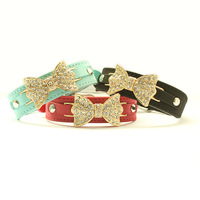 Armi store Rhinestone Bow Dog Cat Collar #a41003 Pet Grooming Princess Traction Circle