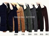 2015 Men Fashion Casaul Down Coat Leisure Parkas Winter Autumn Thick Warm Sports  Outdoor Jogger Hoodie Sweatshirts Jacket M-3XL