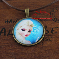 Free shipping 24pcs/lot frozen Elsa pendant necklace,Let it go,Girl's best gift vintage necklace
