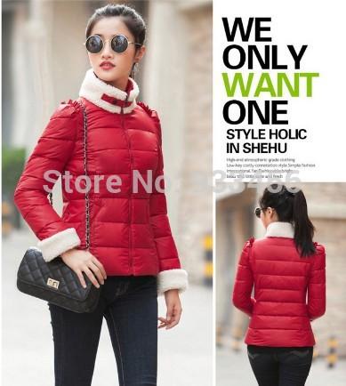 Fall and winter of 2014 cotton jacket slim girls sweet big yards short cushion collar jacket(China (Mainland))