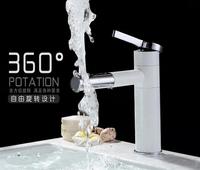 White Baking Paint Basin Tap Basin Fashion Bathroom faucets Mixer Lavatory Faucet torneira banheiro Mixer water basin
