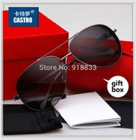 2014 Luxury Brand Design Unisex Polarized Sunglasses Men Sport Oculos Jaguar Women Driving Aviator Gafas Male Leopard Gift Box