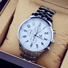 Marca ORLANDO Relógios de quartzo Homens de Negócios Assista Três Cores Luxo relógios Homem do relógio de aço completo relogio masculino relógio masculino(China (Mainland))