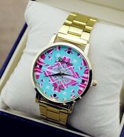 2014 New Fashion quartz Watch Rose Glod Wristwatches Girl Ladies Silicone Watch Quartz Leisure women dress Watches XW0571-3