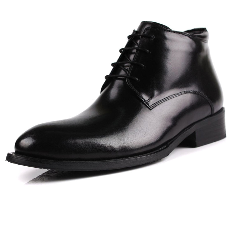 new real leather s fur lining ankle boots winter