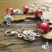 Free shipping 2014 new Fashion girl women beautiful Good luck pebble bracelets