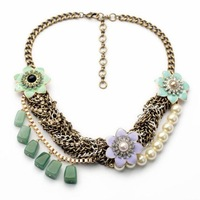 $ 15 Free shipping 2014 New fashion hot selling Asymmetric imitation pearl natural stone pendant